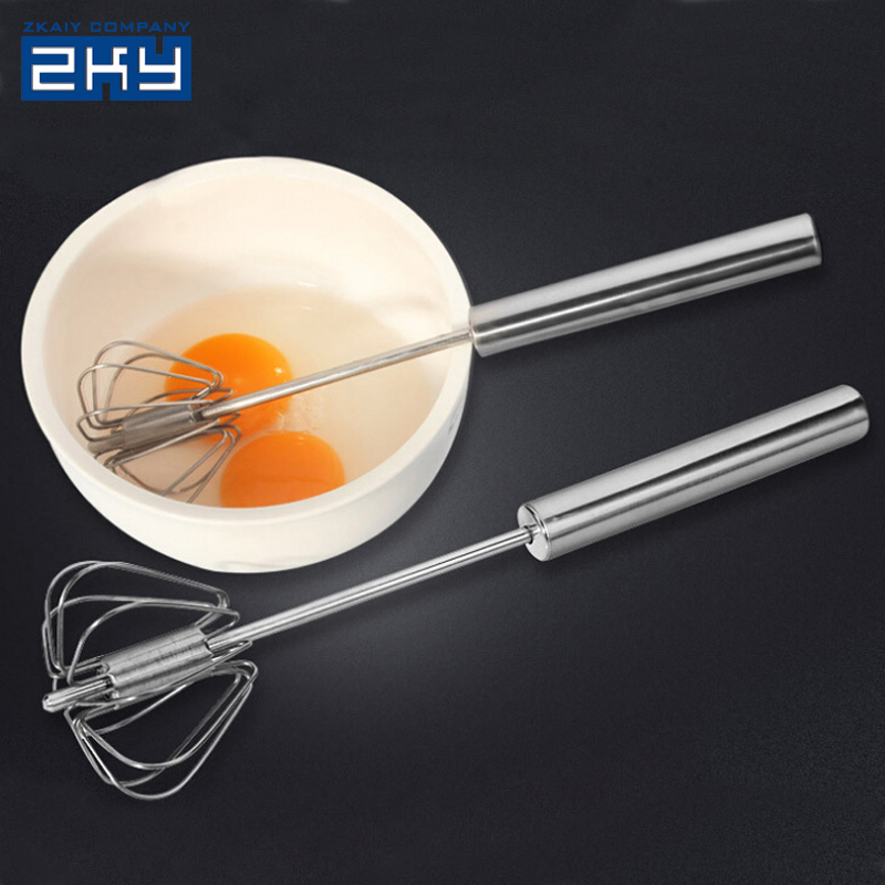 Stainless Steel Hand Egg Beaters Whisk Cream Agitator Kitchen Gadgets Eggbeater Mixer Egg Blender