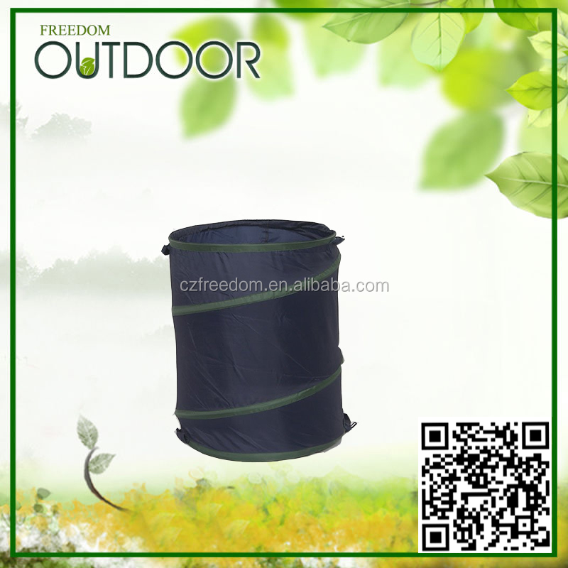 pop up bag folding garden barrels leaf bag