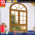 Australia standard cheap house aluminum clad wood tempered glass casement window arched top for sale