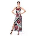 New Designs Flower Printing Wholesale Super Woman Dress