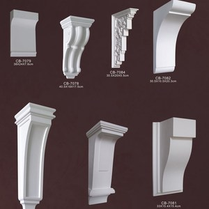 Polystyrene High Quality Good price beautiful PU decorative wooden carved corbels