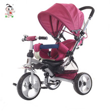 Factory wholesale best selling products plastic children bike three wheels pedal triciclo kids baby tricycle with canopy