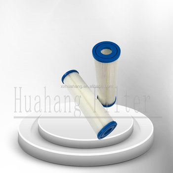 Reusable water filter for pool filter cartridge