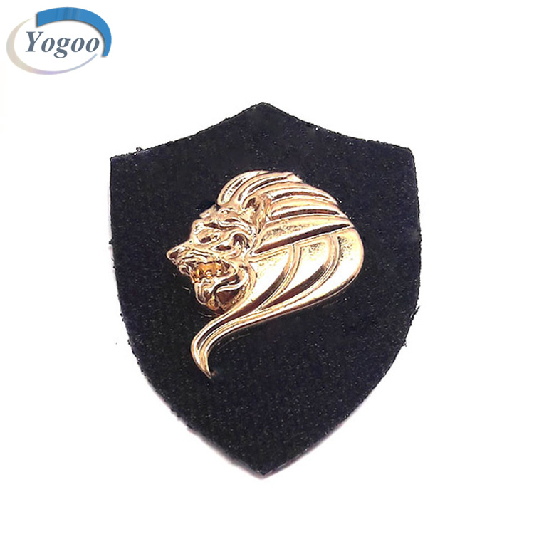 Attractive Custom Leather Tag Metal Genuine Leather Label Patch for Garments