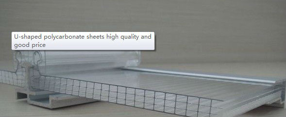 Polycarbonate Waterproof U locked Daylighting four layer R-structure PC Sheet