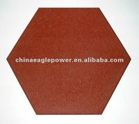 hexagon shaped rubber paver