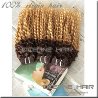 Two color human hair, Beautiful new style two tone remy hair extension