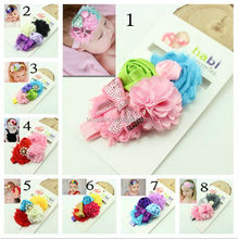 New Style Beautiful Chiffon Headband hairband Baby Girls big flowers headbands With Elastic Kids' hair accessories Baby Headwear