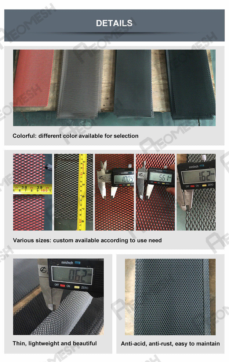 Anodized aluminum expanded metal mesh/small hole expanded metal lowes steel grating