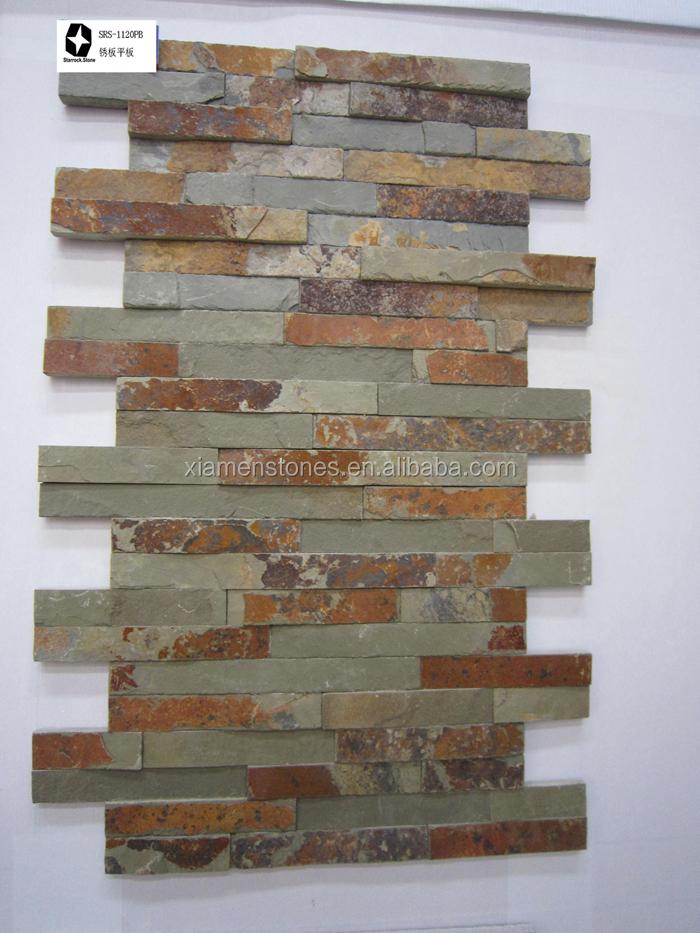 naturschiefer kultur stein gestapelt wand nachahmung stein fliesen. Black Bedroom Furniture Sets. Home Design Ideas