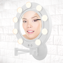 Smart LED Vanity Makeup Mirror with LED light bathroom makeup mirror Wall Mount Glass Bathroom Decorative Wall Mirror