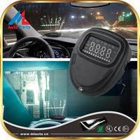 2 Inch A1 Universal Car HUD Head Up Display KMH MPH Speed Warning Monitor