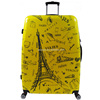 Eiffel tower large trolley luggage travel bags luggage for 32inch