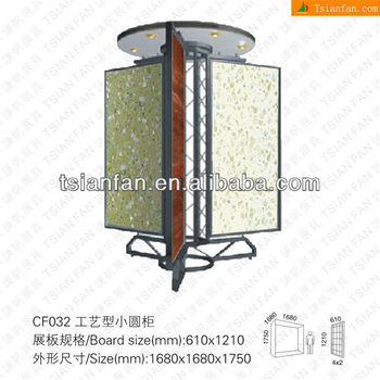 Custom High Quality Metal Turntable Marble Tile Display Stand