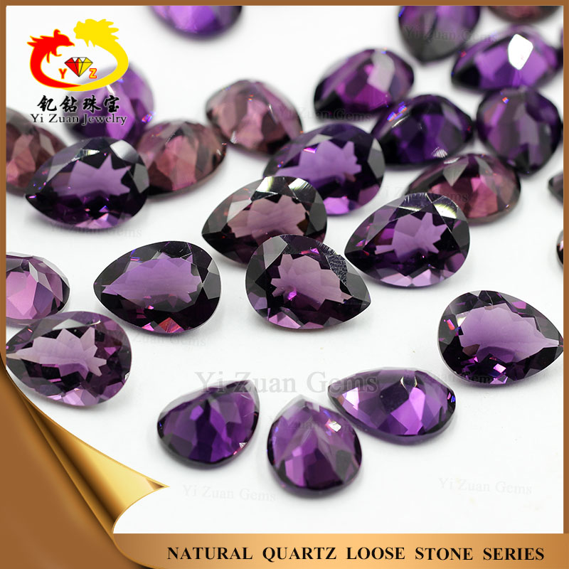 Amethyst Pear cut Loose cut Natural Gemstones for Jewelry Findings