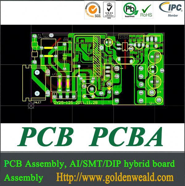 ul pcba&pcb assembly manufacturer cem-1 double-sided pcb with dip pcb assembly shenzhen fast pcb assembl smt pcba & pcb assembly