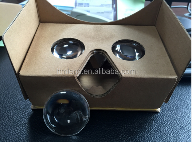 25mm 34mm 37mm Diameter Acrylic Biconvex Lens with 45mm Focal Length Exact for Google Cardboard 3D VR Glasses from munufactory