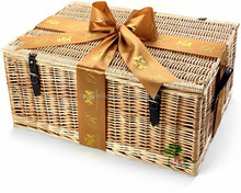 High quality cheapest wicker picnic gift basket with flatware ,plates and cups