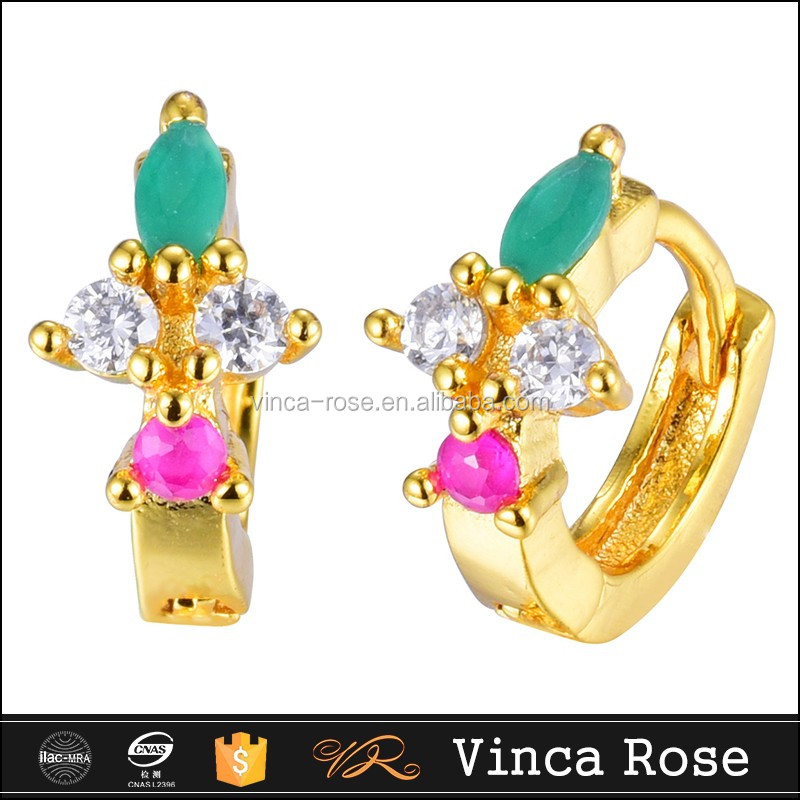 Imitation jewelry earring with malaysian cz stone like star