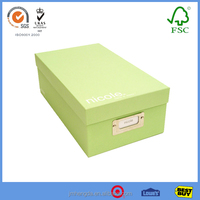 Made In China Beautiful Kraft Shoe Box With Colorful Design