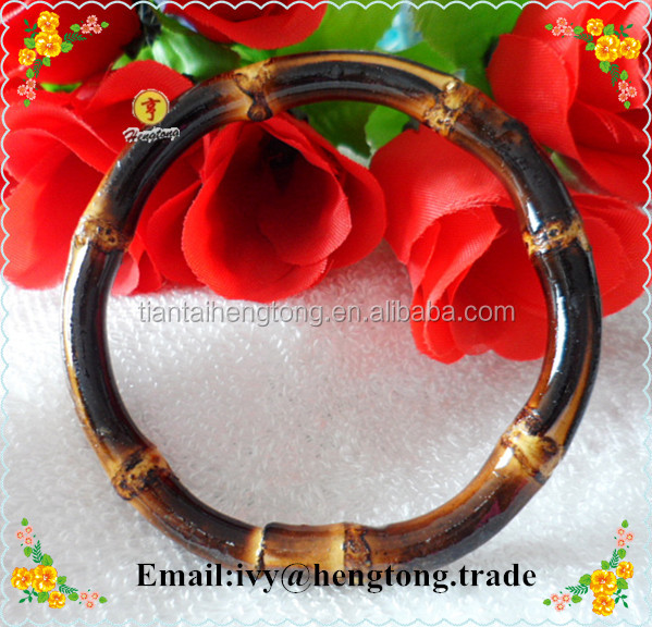 Wholesale cheap exquisite natural or painted bamboo bangle, fashion bamboo bracelet