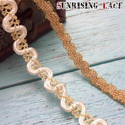 Decorative Zig Zag lace Gold Braid Trim