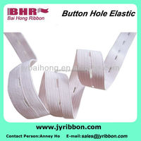 expandable pink button holes elastic webbing for garment