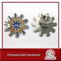 OEM Promotion Item High Quality Full Color Printed Metal Stamped Type Durable And Warterproof Cheap Epoxy Badge