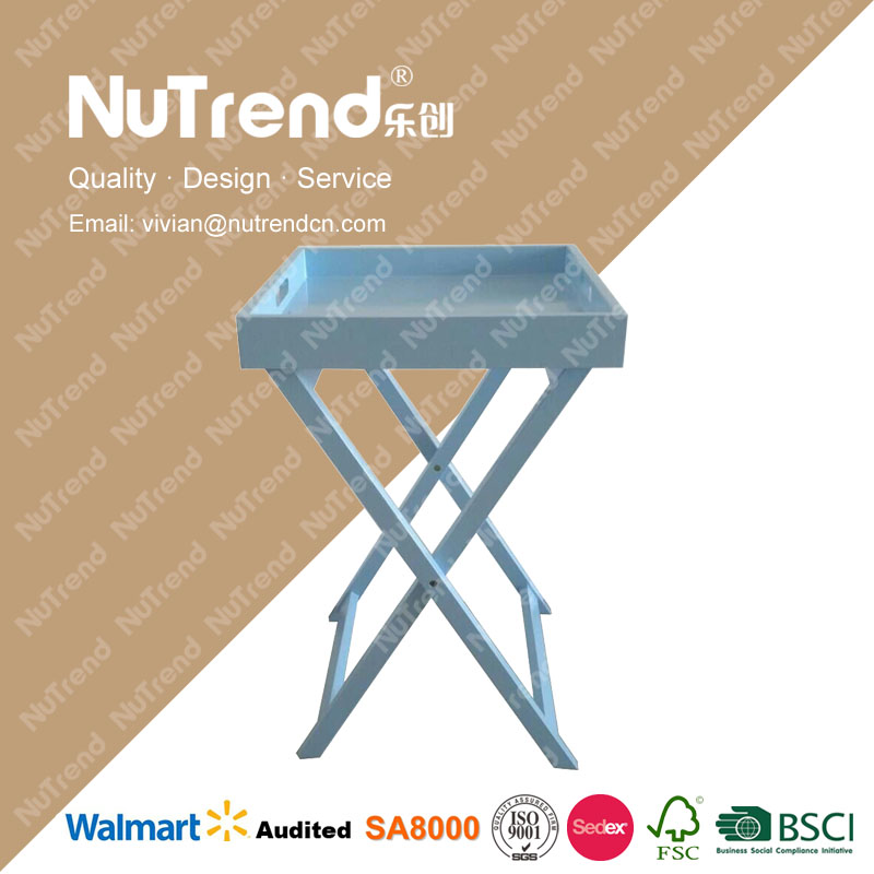 folding wholesale china import wooden table with wicker drawers