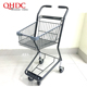 metal trolley shopping cart with small wheels