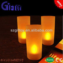 Promotion Plastic Led Candle With Glass Cup GT-407A