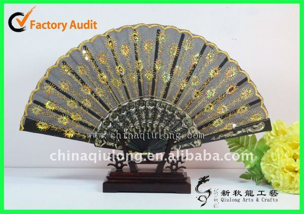 2012 New products !!! Plastic lace wedding hand Fans