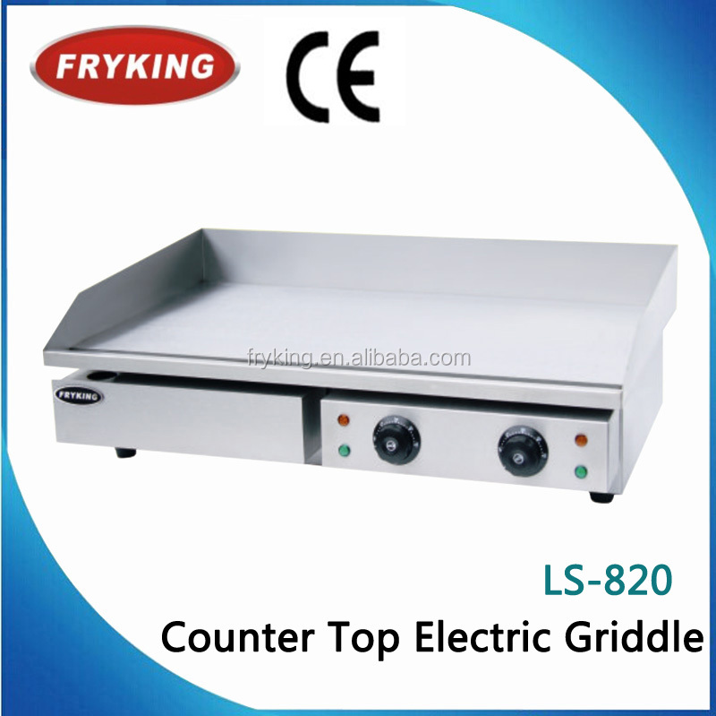 CE electric flat plate teppanyaki griddle(CE approved)