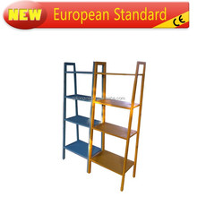 Classtic solid wood book shelf,Leaning Ladder Book Shelf White 5 tier Shelves Media Cases Wall Mount Stand Home