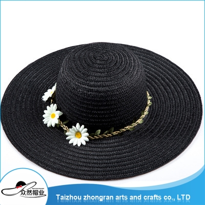 Wholesale Products China Women Wide Brim Visor Hat Straw Church Hat