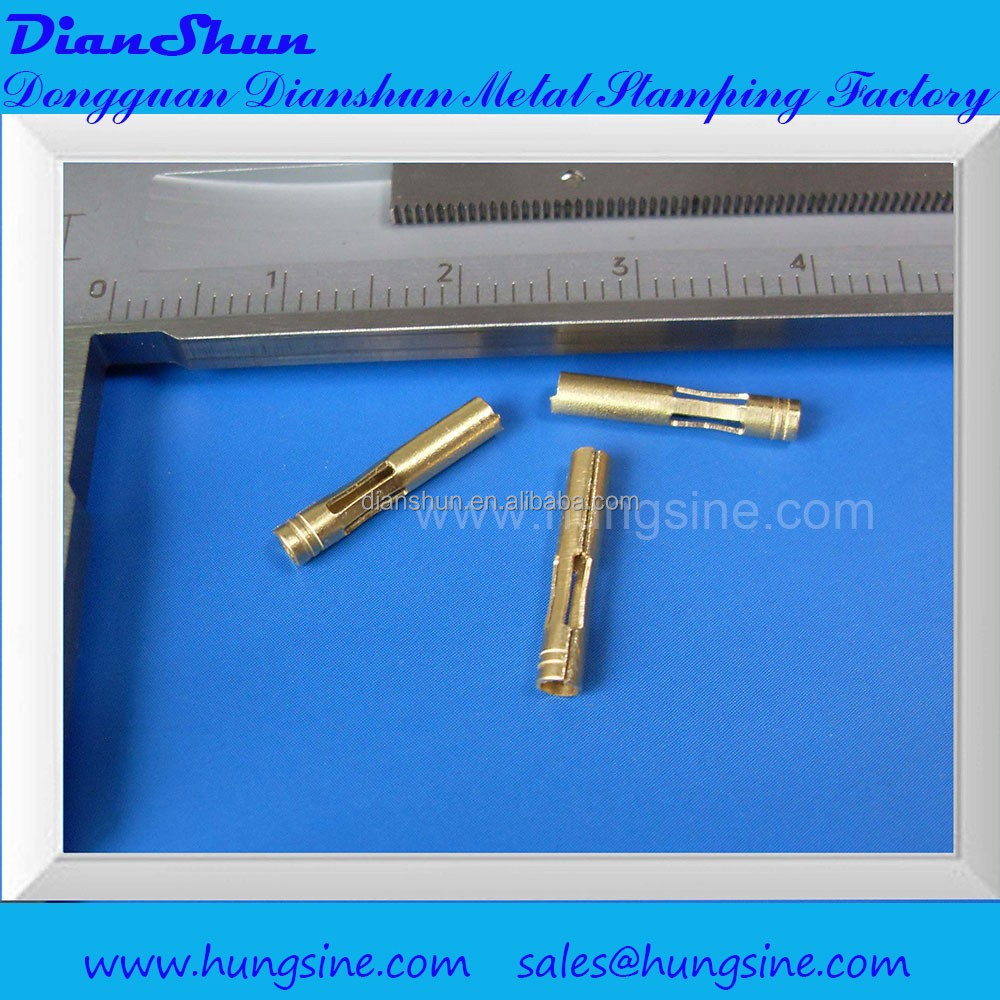 Square to round stamping parts Used for electronic components,Made of Brass,Customized designs welcome