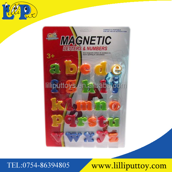Multicolor plastic magnetic letters and numbers educational toy