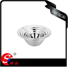 cheap price 5pcs metal mixing bowl stainless steel small snack bowl