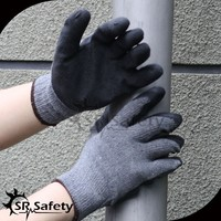 SRSAFETY black latex Hand working glove cheapest rubber glove
