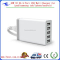 New Arrival 40W 5V 8A 5 Port USB Wall Charger,Universal Multiple USB Wall Charger