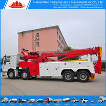 China manufacture 30 ton 8 x 4 drive 25 ton under lift rotator wrecker tow truck & wrecker truck with remote operation control