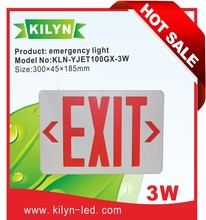 Energy saving LED Fire Exit Letter safety Sign Emergency Light symbol