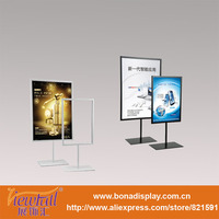 picture metal frame floor stand for advertising