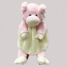 soft toy pig backpack for kids, stuffed animal pink pig backpack