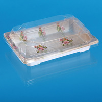 rectangle disposable sushi containers for packing with food grade