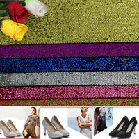 glitter leather fabric pu leather for shoes bags furniture