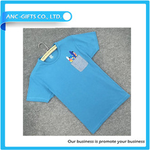 promotional custom design fashion wholesale pocket t-shirt in different color