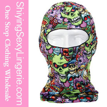 Hot Sale Wholesale Halloween Colorful Skulls Cool Motorcycle Face Mask Costume