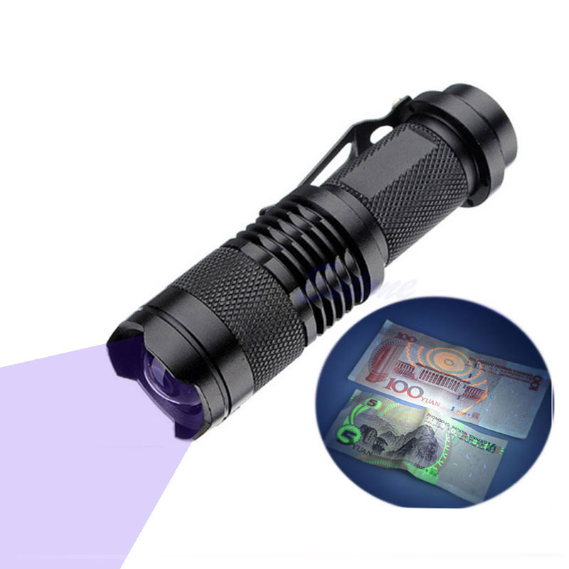 led strong 365 nm uv torch lamp zoom black small uv 365nm flashlight