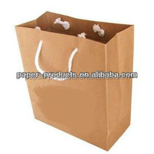 Recycled kraft paper grocery bags without handle